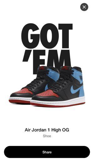 Jordan 1 NC to Chicago size 11.5 men for Sale in Miami, FL