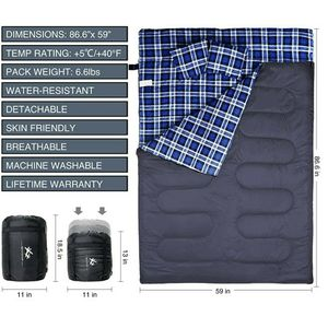 Flannel Double Sleeping Bag for Sale in Tacoma, WA