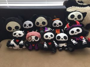 Lot of 10 Skelanimal plushie for Sale in SIENNA PLANT, TX