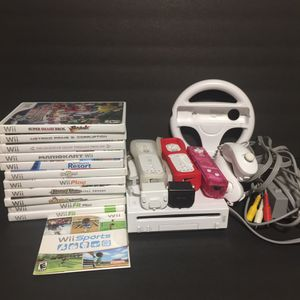 Nintendo Wii Bundle with 12 Games, remotes and more for Sale in Lake Oswego, OR