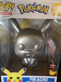 "Funko POP! Games: Pokemon Pikachu 10"" Inch Metallic Vinyl Figure for Sale in Sacramento, CA"