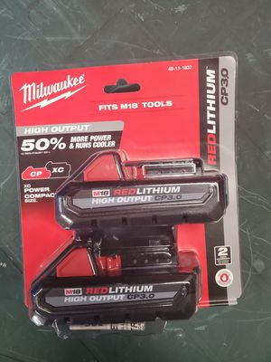 milwaukee m18 3.0 batteries 2 pack for Sale in Lombard, IL