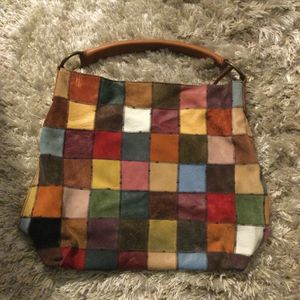 Purses Gently Used.... The Plaid Satchel is Lucky Brand and the small brown hobo is Coach. for Sale in Tampa, FL