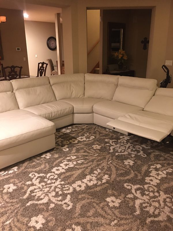 Brand New - Italian leather sectional