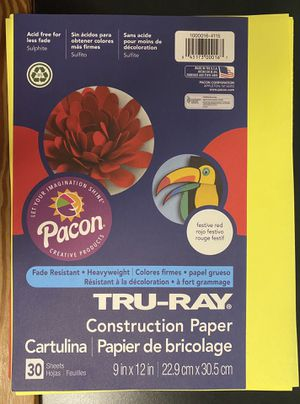 Tru-Ray Construction Paper Festive Red and Yellow for Sale in Ithaca, NY
