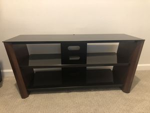 Wood and Glass TV Stand for Sale in Chamblee, GA