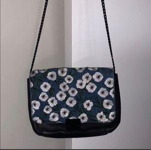 Loeffler Randall Black Leather Floral Denim Bag for Sale in Dallas, TX
