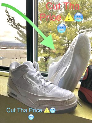 Jordan Retro 3's Triple White for Sale in Philadelphia, PA