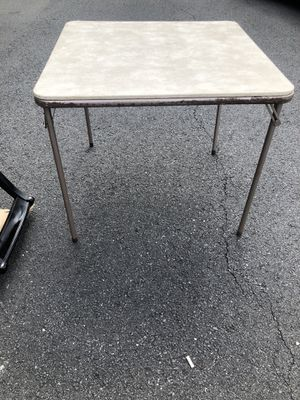 Card table fold up table for Sale in Alexandria, VA