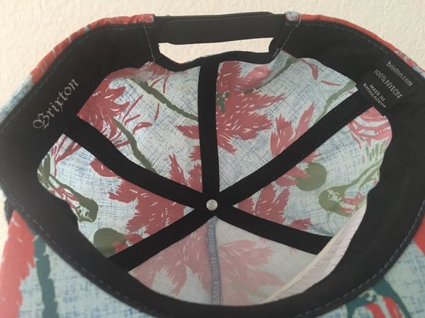 Brixton Henshaw Luau Blue Snapback Hat Cap BRXTN