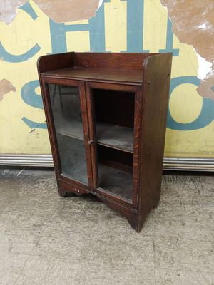 Antique Cabinet solid wood metal hardware 100 plus years old furniture piece for Sale in Orange, CA