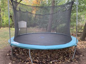 Trampoline (13 ft.) with basketball hoop for Sale in Streamwood, IL