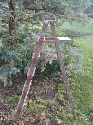 Old wood ladder for Sale in Mansfield, IL