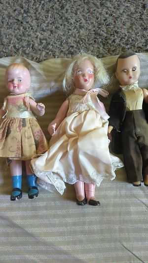 three small antique dolls for Sale in Redding, CA