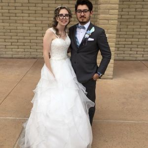 David's Bridal Lace and Organza Wedding Ball Gown for Sale in Tucson, AZ