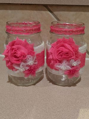 Mason jar vase decor for Sale in Tomball, TX