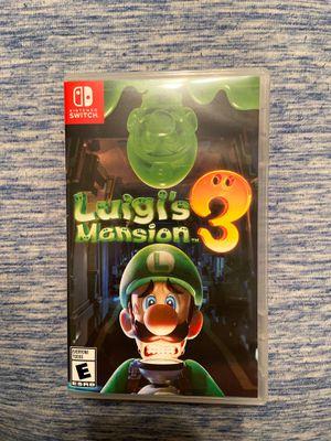 Nintendo Switch Luigi's Mansion 3 for Sale in Lutz, FL