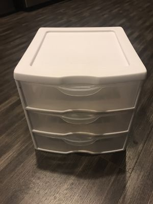 3 Drawer Plastic Organizer Small for Sale in Los Angeles, CA