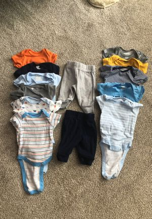 Set of Newborn Baby Boy Shirts & Pants for Sale in North Lauderdale, FL