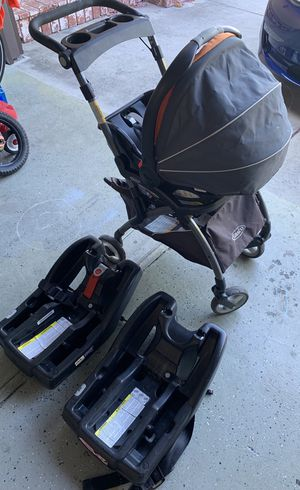 Graco click connect car seat, 2 car seat bases and stroller for Sale in Fremont, CA