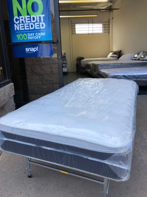 TWIN SIZE ORTHOPEDIC EURO PILLOW-TOP BED BRAND NEW SUPER COMFY MATTRESS ONLY $125 for Sale in Chula Vista, CA