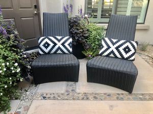 Frontgate wicker new Luca Lounge patio Chairs-pair-outdoor patio furniture-wicker for Sale in Scottsdale, AZ
