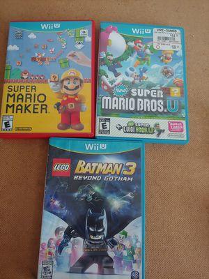 Nintendo Wii U Mario Batman for Sale in Carson, CA