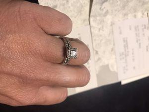 Platinum princess cut diamond ring for Sale in North Fork, CA