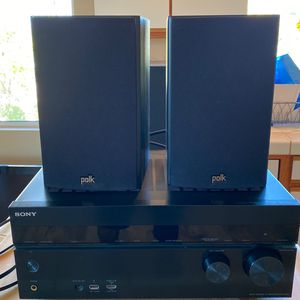 Sony STR-DN1040 Speaker Amp Complete with 6 Polk Speakers for Sale in Encinitas, CA