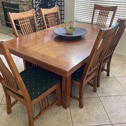 Dining Room Table . Has Insert To Make Bigger. for Sale in Riverside,  CA