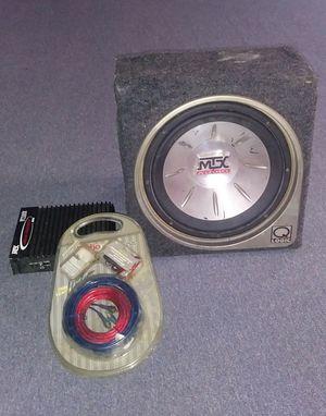 10 in subwoofer,amp, wiring kit for Sale in Dundalk, MD