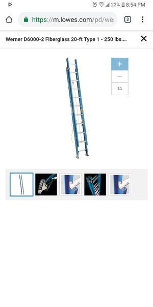 Werner 20ft ladder for Sale in Cleveland, OH