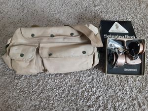 Vintage Browning reel/fishing bag for Sale in Layton, UT