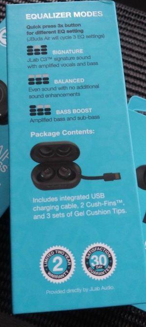 JLab Audio JBuds Air True Wireless Bluetooth Earbuds NEW. Really good for Sale in Trenton, NJ