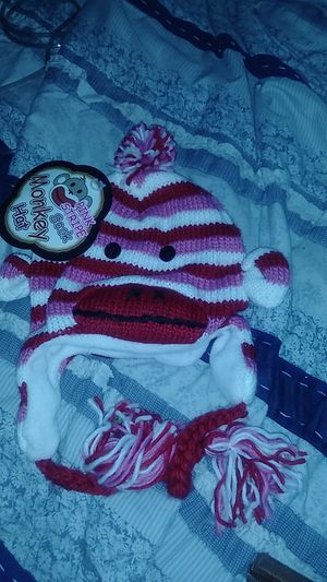 Pink Striped Sock Monkey 🐵Hat * New for Sale in Tacoma, WA