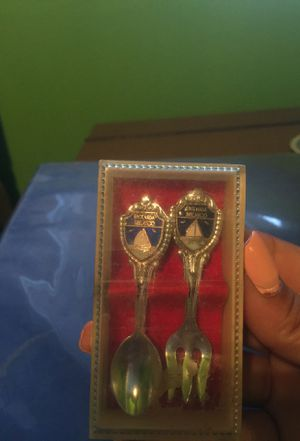 Ensenada Mexico antique spoon and fork for Sale in Sanger, CA
