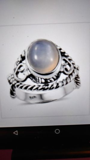 Sterling moonstone open cut ring. Size 5 for Sale in Palmetto, FL