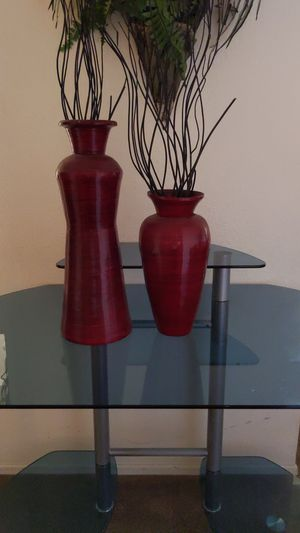 2 vase home decor - deep red for Sale in Fontana, CA