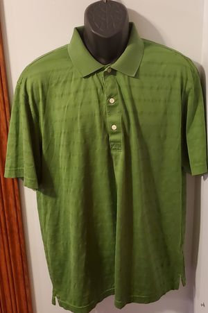 Greg Norman Green With Stripes Collared Polo Shirt for Sale in Middletown, MD