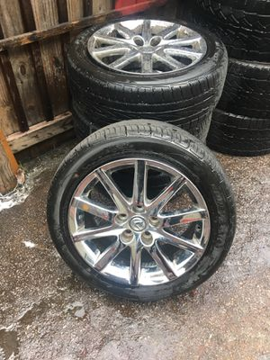 Lexus factory oem wheels and tires , tires are new maybe 200 Miles on them , chrome is peeling also we have the factory Lugnuts and lock kit , tire a for Sale in Atlanta, GA