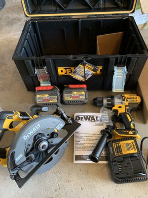 DEWALT FLEXVOLT 60-Volt Combo Kit (2-Tool) with (2) Batteries 6.0 Ah, Charger and 22 in. ToughSystem Toolbox for Sale in Woodridge, IL