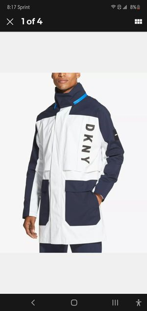 BRAND NEW DKNY Mens Jacket White Size XL Colorblocked Logo Windbreaker for Sale in Forest Park, IL