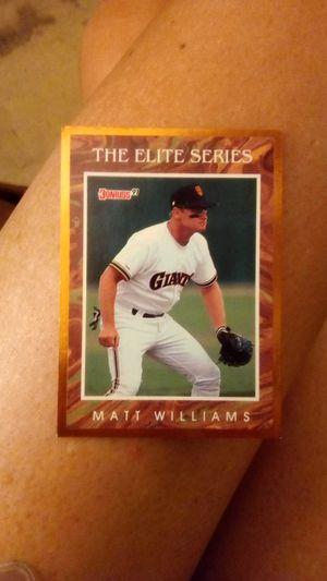 Matt williams baseball card for Sale in Anderson, SC