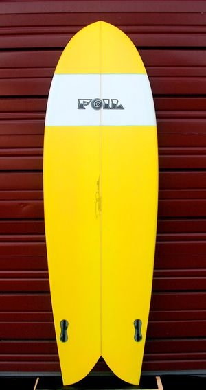 "New 5'10"" FOIL retro fish surfboard for Sale in Lutz, FL"