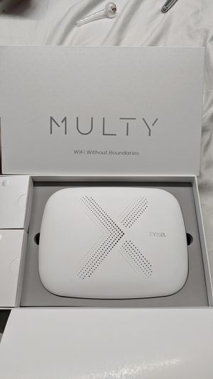 New in Box ZyXEl Multy X, AC3000 Home Wi-Fi Mesh Router Up to 3,000 sq. ft, Tri-Band Technology for Sale in National City, CA
