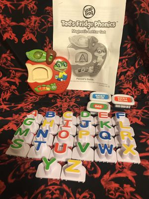 LeapFrog Tad's Fridge Phonics Batteries included with Parents Guide for Sale in Conroe, TX