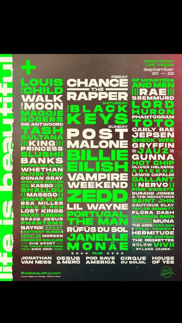 Life Is Beautiful 3 Day Pass