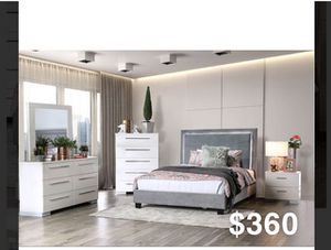 QUEEN BED FRAME WITH MATTRESS for Sale in Cudahy, CA