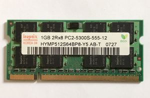 Hynix 1GB PC2-5300S-555-12 PC Notebook RAM Memory for Sale in Queens, NY