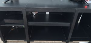 HARDWOOD BLACK TV STAND for Sale in Baltimore, MD